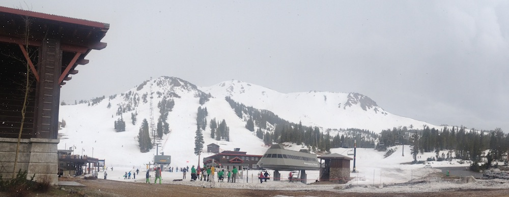 Coverage is thin at the base, but Mammoth Mountain still offers great conditions.