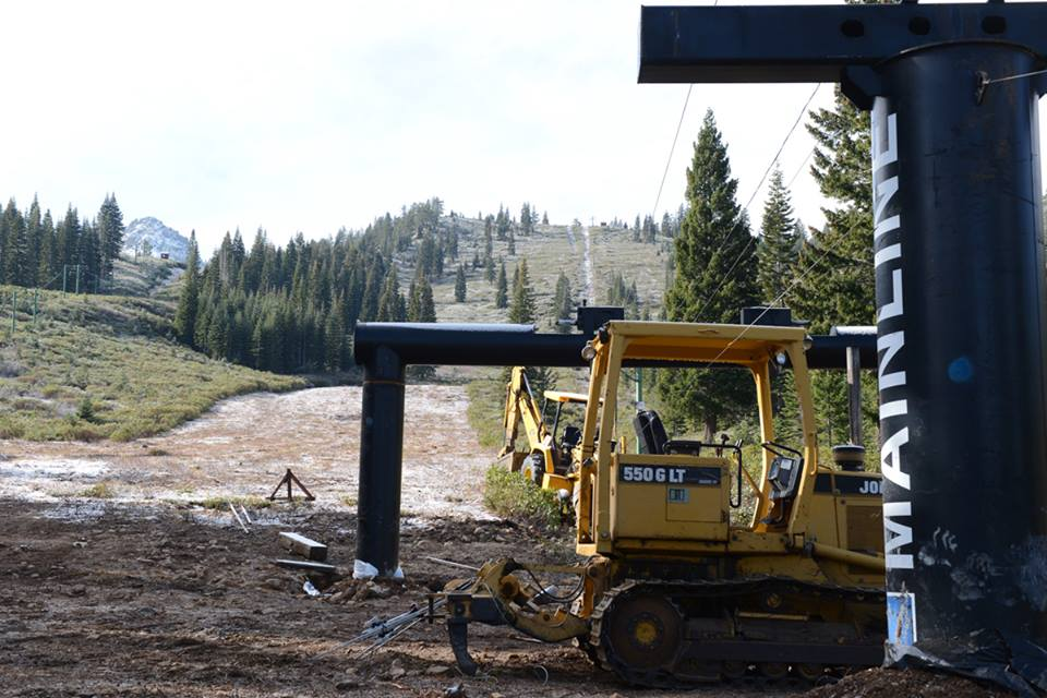 Construction began on the old Mainline lift at Johnsville last November.