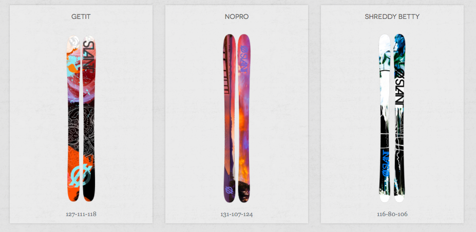 The women's collection of Slant Skis