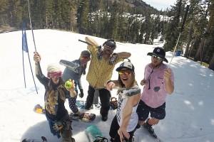 Happy snow golfers this morning. Photo via Instagram user @knagaman22
