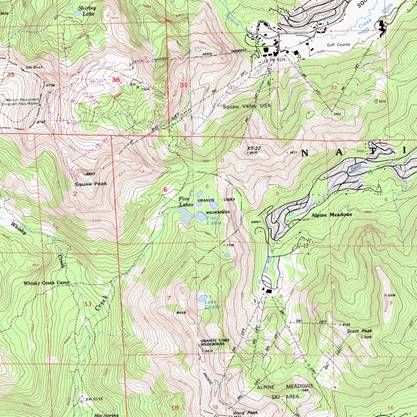 The section of the USGS topo map is indeed clearly stamped as wilderness.