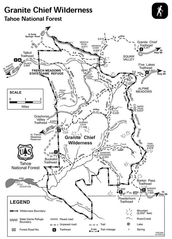 """The Granite Chief Wilderness map also clearly shows """"the bump"""" too."""