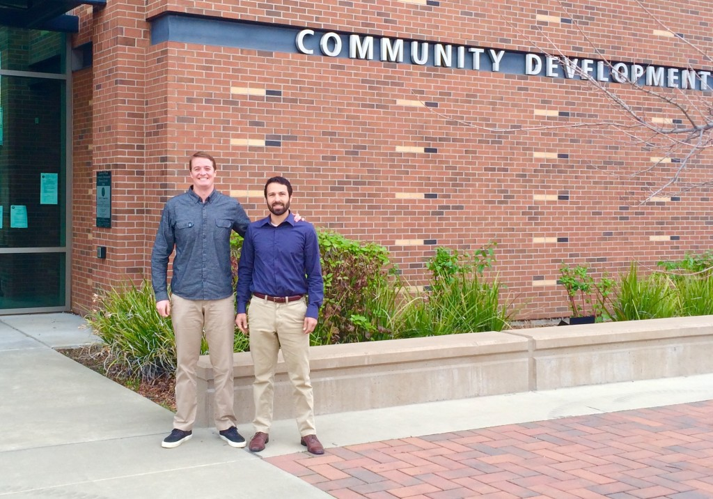 Chase Schweitzer and Isaac Silverman of Keep Squaw True visited the Placer County supervisor this week to deliver a message that the community does not necessarily support the VSV project.