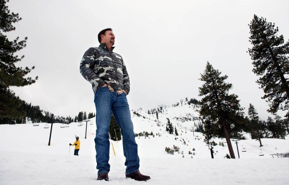 Squaw Valley CEO Andy Wirth appearing calm and cool in this image from the Sacramento Bee.