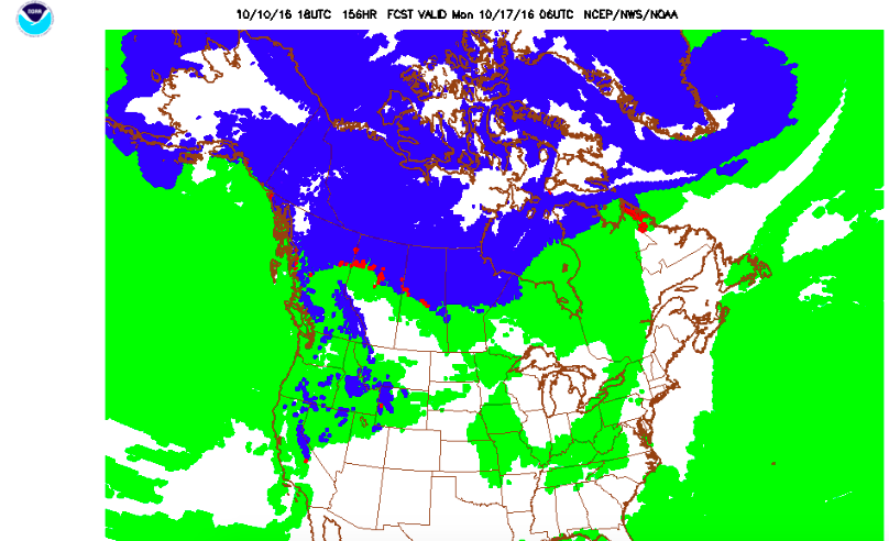 The predominate precipitation in Tahoe could be snow by next Monday....maybe.